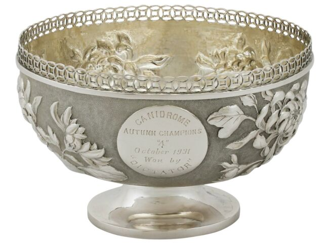 Antique Chinese Export Silver Bowl 1920s