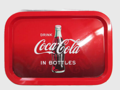 Coca-Cola Red and Black Ombre Tin Tray Drink Coca-Cola in Bottles