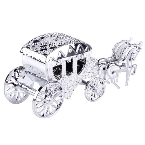 Cinderella Royal Carriage Gold Silver Candy Chocolate Boxes Party Wedding Gift