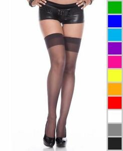 29142c7868c Image is loading New-Music-Legs-4101-Sheer-Thigh-High-Stockings