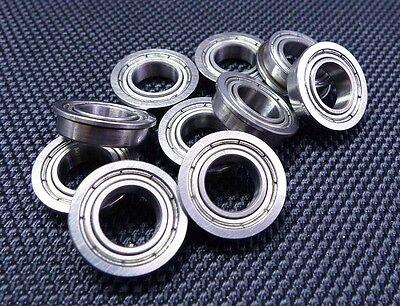 (10 Stück) (f634zz) (4x16x5 Mm) Flansch Metallabschirmung Wälzkörper F634 4 16 5