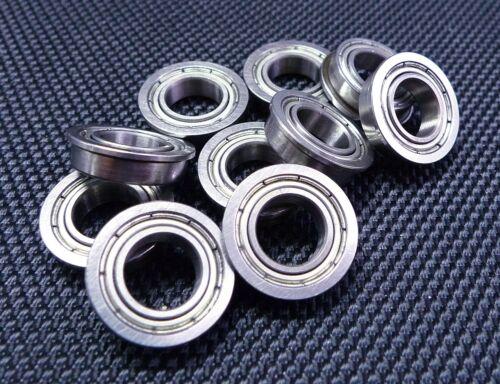 25 PCS Flange Metal Shielded Ball Bearing F6902z F6902zz 15x28x7 mm