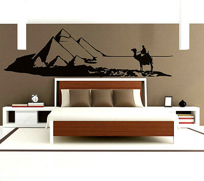 Egypt Wall Art Decal Vinyl Sticker Decor Mural Transfer Pyramids Giza Camel Sand