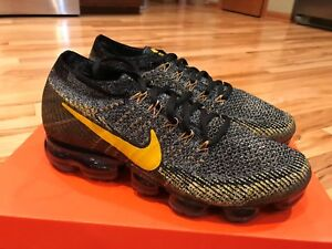 hot sale online 718ff 0008c Details about Nike Nikelab Air Vapormax Flyknit Black Yellow 899473 001  Men's Size 9 SAMPLE