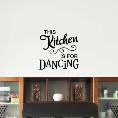 This Kitchen Is for Dancing Vinyl Wall Art Decal Home Decor Sticker Removable