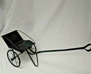 Antique Victorian Baby/Child Buggy Carriage Stroller Doll Pull Steam Punk VTG