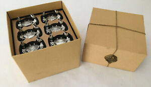 Pottery Barn 6 Rock Crab Place Card Holders w/Metal Placecards New in Box