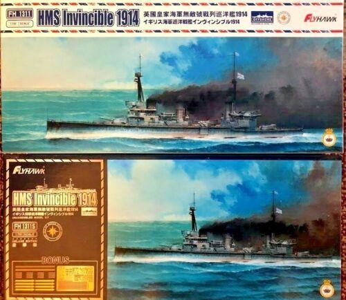 FH1311S 1//700 HMS INVINCIBLE 1914 WWI Royal Navy Battlecruiser Flyhawk FH1311