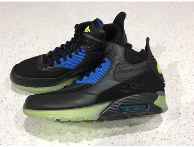 Nike Air Max 90 Sneakerboot Ice Black Blue Mens Winter Boots Shoes