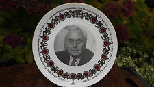 1976 Harold Wilson steps down as UK Prime Minister Plate Only 50 made