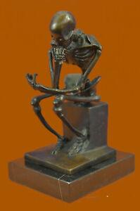 Abstract-Modern-Art-Mini-Skeleton-by-Milo-Bronze-Sculpture-Marble-Statue-Decor