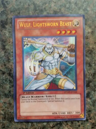 1x YuGiOh Wulf Ultra Rare Unlimited Edition MP Lightsworn Beast RYMP-EN103