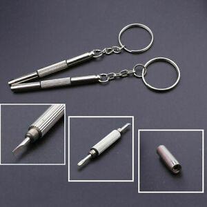 3-in-1-Schraubenzieher-KeyChain-Glaeser-Rahmen-Uhr-General-Reparatur-Werkzeu-U0R7