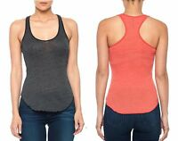 Joe's Jeans Lita Tank Soft Cotton Blend Racerback Top Amaranth/gray Xs/s $48