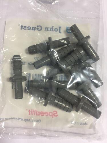 3//8 hose ID John Guest PI 251012S tube to hose stem 5//16 stem OD bags of 10