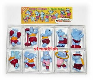 Happy-Hippos-im-Fitnessfieber-Ferrero-Satz-1990-mit-1-BPZ