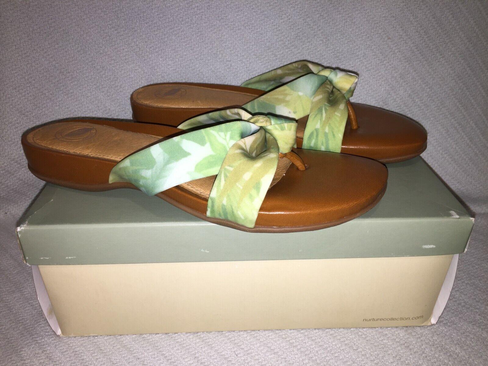 Ladies Dimensione US 9 Nurture Nurture Nurture  Sunset  Flip Flop Sandals verde Honey, Slip on Sandals 975380
