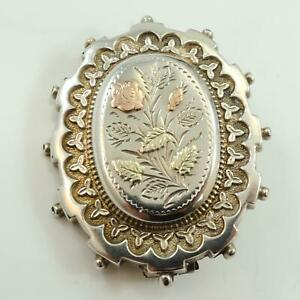 Sweetheart-Brooch-Antique-Silver-Rose-and-Yellow-Gold-Circa-1870-80s