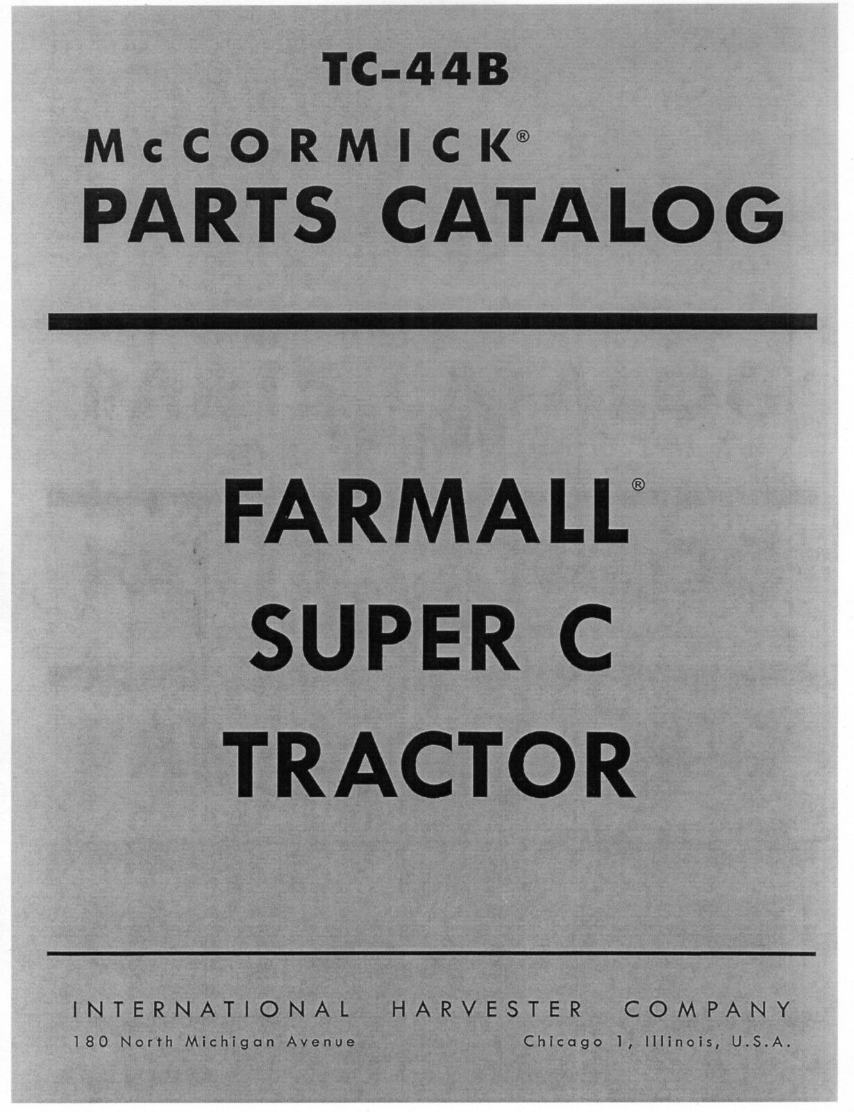 Farmall Super C Tractor Parts Catalog Manual Mccormick International Wiring Diagram Norton Secured Powered By Verisign