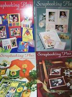 BOOK LOT OF 4 OF SCRAPBOOKING PLUS THE PAINTED TOUCH VOL 1-4 GRETCHEN CAGLE TOLE