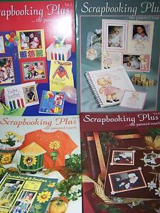 BOOK-LOT-OF-4-OF-SCRAPBOOKING-PLUS-THE-PAINTED-TOUCH-VOL-1-4-GRETCHEN-CAGLE-TOLE