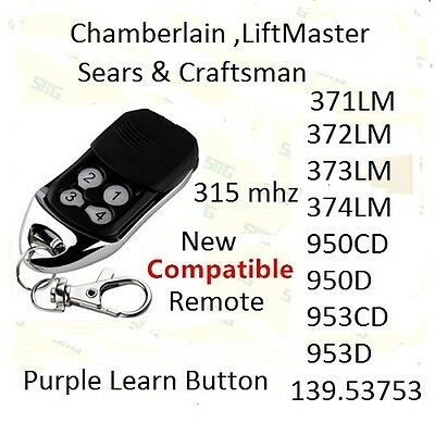 Remote Garage Door Opener 372LM Liftmaster COMP Craftsman 371LM Chamberlai ABCD