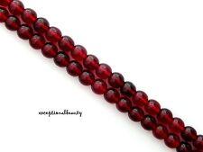 70 Garnet Red Preciosa Czech Druk Glass Smooth Round 6mm Spacer Beads