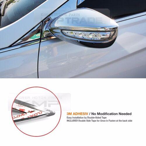 Chrome Mirror Cover Garnish Mirror Bracket Molding 8P for HYUNDAI 2011-14 i45 YF
