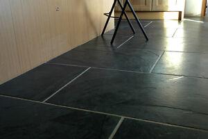 Image Is Loading Brazilian Black Brushed Surface Antique Slate Tile 600x900x10mm
