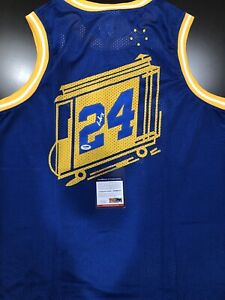 low priced 7b51e 2cad9 Details about RICK BARRY Autograph Signed Golden State Warriors Throwback  Jersey PSA/DNA COA