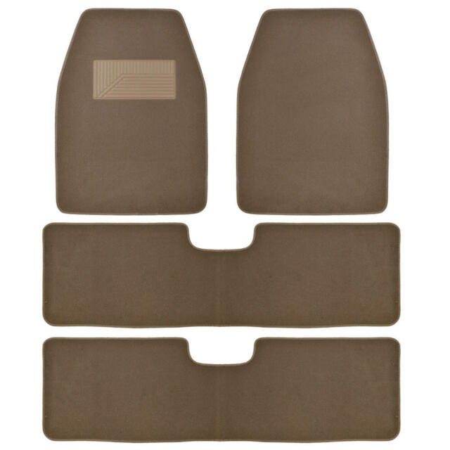 Bdkusa 3 Row Best Quality Carpet Floor Mats For Suv Van 4 Pcs Dark