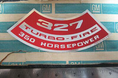 65 66 67 68 69 70 Chevelle Camaro Corvette 327 350 400 air cleaner decal 350 hp