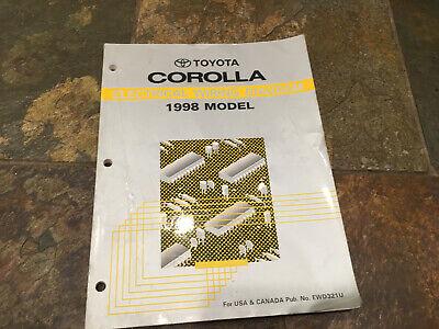 1998 Toyota Corolla Wiring Diagrams Electrical Service Manual Ebay