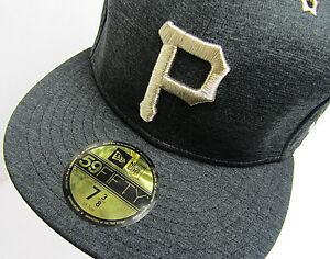 timeless design 1db30 d43c3 Image is loading New-Era-Pittsburgh-Pirates-Heathered-Black-2017-MLB-
