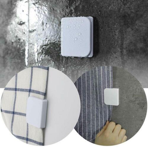 2 Pcs Shower Curtain Clips Self-adhesive Guard Curtain Clip U Shape Fixed Good