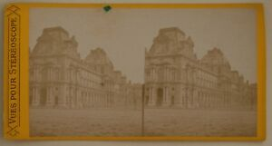 Louvre-Pavillon-Turgot-Parigi-Francia-Foto-Stereo-L44-Vintage-Albumina-c1870