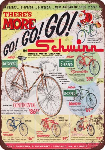1960 Schwinn Bicycles reproduction metal tin sign 8 x 12