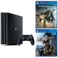 Sony PlayStation 4 Pro 1TB Gaming Console + Titanfall 2 + Monster Hunter: World