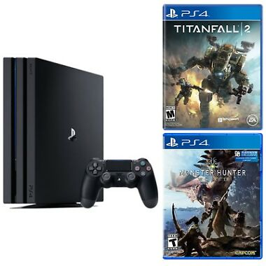Sony PS4 Pro 1TB Console + Titanfall 2 + Monster Hunter: World