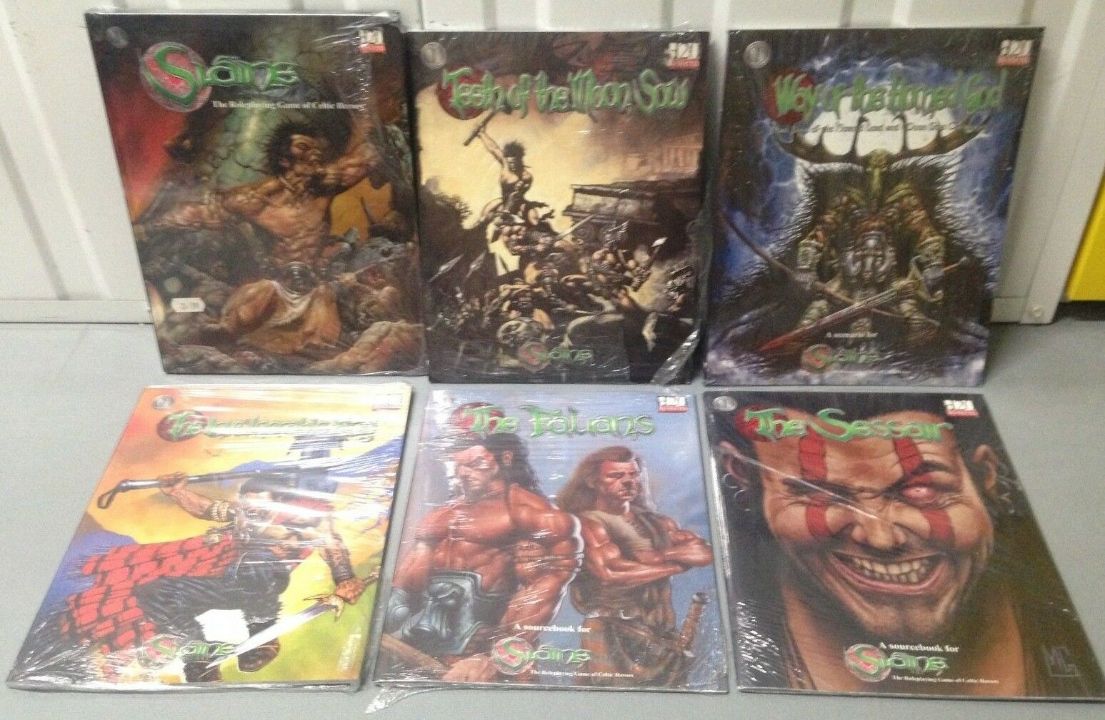 Slaine - - - RPG, Scenario's and Sourcebooks - 6 Books - All New and Sealed b4ed6b