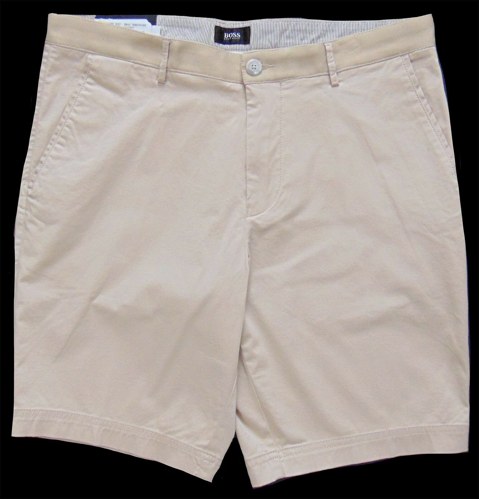 Men's HUGO BOSS Khaki Sand Cotton + Shorts 30 30R (Euro 46) NWT NEW + Crigan