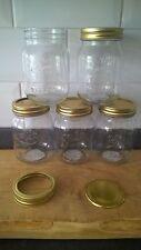 5 X MASON 500ml vintage retro jars, food Storages Jam Crafts weddings tealights