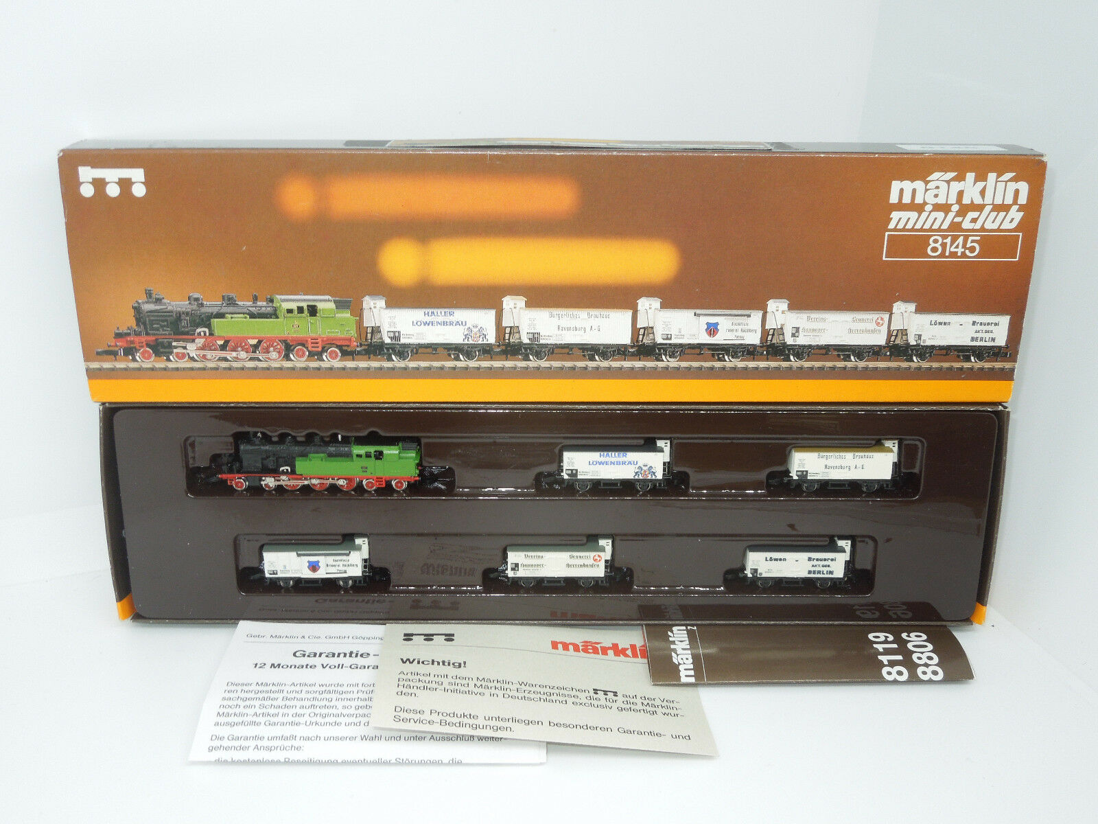 Märklin mini-club 8145 Zugset con locomotiva T 18-Würt birreria