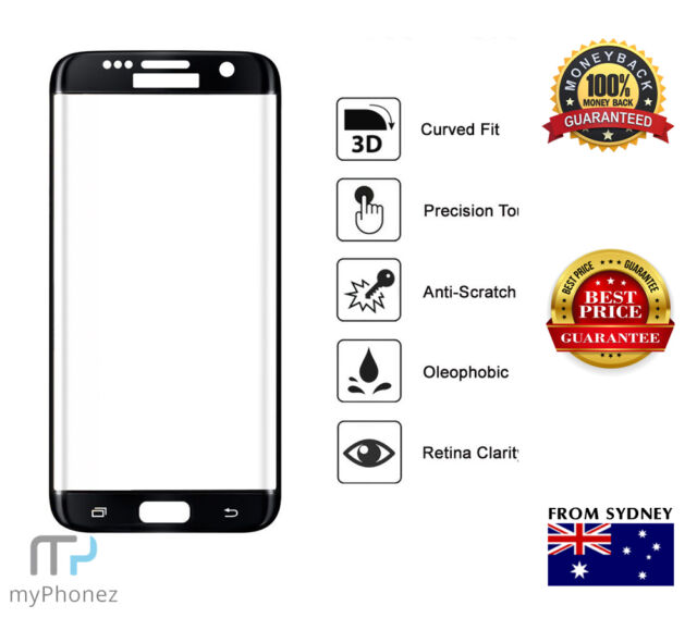Galaxy S7 edge CURVE Tempered Glass Screen Protector coloured Scratch Resistant