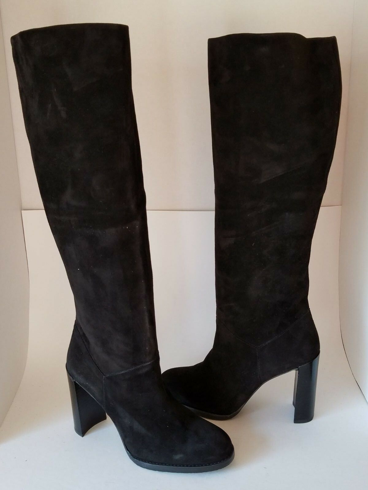 Sz 9.5 NEW STUART WEITZMAN BOOTS BOOTS BOOTS knee High womens YUM Black Suede 41166c