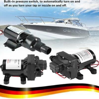 12 V DC Selbstansaugende Wasserpumpe f/ür RV Caravan Einstellbarer Schalter mit R/ückschlagventil 55 psi // 3,8 bar Wasserpumpe 3 GPM // 11.4LPM
