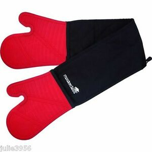 Master-Class-Double-Seamless-Silicone-Cooking-Oven-Gloves-Mitts-W-Cotton-Sleeve