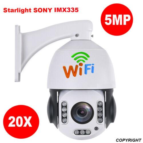5MP IP Kamera wireless 20X Zoom Ptz Dome menschlichen Geschwindigkeitserkennung