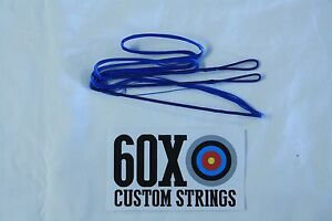 "60X Custom Strings 64/"" Fast Flight Silver Recurve Bowstrings Bow String"