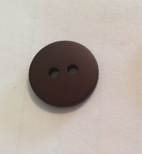 "17 PIECES BEAUTIFUL BUTTONS DARK BROWN ROUND- 2 HOLE- 5//8/""-"